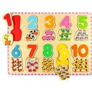 Bigjigs Drevené počítacie puzzle II - Puzzle