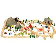 Bigjigs Dřevěné vláčkodráhy - Horská cesta 112 dílů - Vláčikodráha