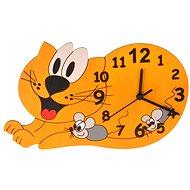 Detské drevené hodiny - Mačka - Hodiny do detskej izby