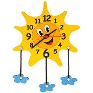 Detské drevené hodiny – Slniečko s mráčikmi - Hodiny do detskej izby