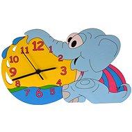 Detské drevené hodiny - Sloníča - Hodiny do detskej izby