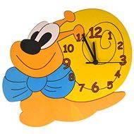 Detské drevené hodiny - Slimák - Hodiny do detskej izby
