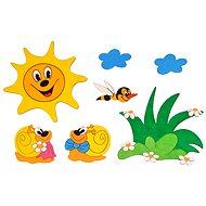 Drevená dekorácia - Zostavy dekorácií lúka a slimáky - Dekorácia do detskej izby