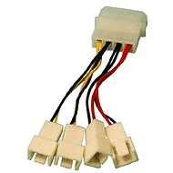 OEM 1x 4-pin konektor --> 2x 3-pin konektor 5 V a 2x 3-pin konektor 12 V