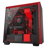 NZXT skříň H700i - čierno-červená