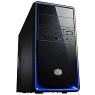 Cooler Master Elite 344 USB 3.0 čierno-modrá - Počítačová skriňa