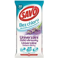 SAVO Bez Chlóru Univerzálny čistiaci obrúsky Levanduľa 30 ks - Čistiace obrúsky