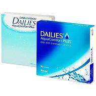 Dailies AquaComfort Plus (90 šošoviek) dioptrie: -3,00, zakrivenie: 8,70 - Kontaktné šošovky