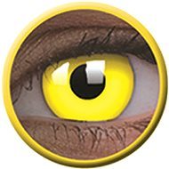 ColourVue Crazy šošovky UV svietiace - Glow Yellow (2 ks ročné) - nedioptrické - Kontaktné šošovky