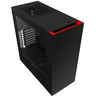 NZXT S340 čierna/červená - Počítačová skriňa