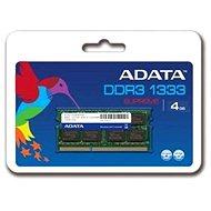 ADATA SO-DIMM 4 GB DDR3 1333 MHz CL9 - Operačná pamäť