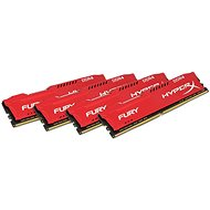 Kingston 64 GB KIT DDR4 2666 MHz CL16 HyperX Fury Red Series - Operačná pamäť