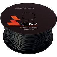 3D World PLA 1.75 mm, 1 kg, čierna - Tlačová struna