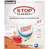 CERESIT Stop Vlhkosti Micro náhradné tablety 3 v 1 energické ovocie 2 x 300 g - Pohlcovač vlhkosti