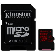 Kingston Micro SDXC 64GB UHS-I U3 + SD adaptér - Pamäťová karta
