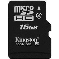 Kingston Micro SDHC 16GB Class 4 - Pamäťová karta