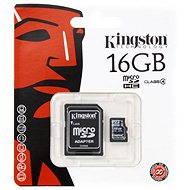 Kingston Micro SDHC 16 GB Class 4 + SD adaptér - Pamäťová karta