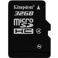 Kingston Micro SDHC 32GB Class 4 - Pamäťová karta