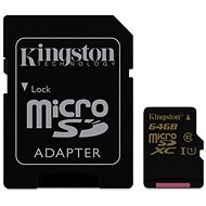 Kingston Micro SDXC 64GB Class 10 UHS-I + SD adaptér - Pamäťová karta