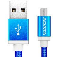 ADATA microUSB 1 m modrý - Dátový kábel