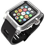 Lunatik Epik pre Apple Watch 42mm (strieborné aluminium / čierny silikón) - Puzdro