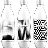 SodaStream Fľaša Tripack 1 l Fuse Black & White - Náhradná fľaša