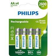 Philips R6B4B260 4 ks v balení - Batéria