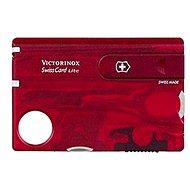 VICTORINOX Swiss Card Lite Translucent červený - Vreckový nôž