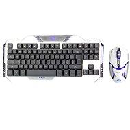 E-Blue Auroza White - Súprava klávesnice a myši