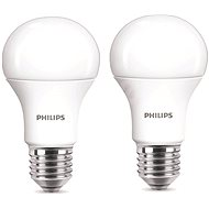 Philips LED 9-60W E27, 2700K, mliečna, set 2 ks - LED žiarovka