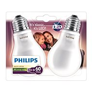 Philips LEDClassic 7-60W, E27, 2700K, mliečna, set 2 ks - LED žiarovka