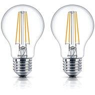 Philips LEDClassic Filament Retro 6-60W, E27, 2700K, číra, set 2ks - LED žiarovka