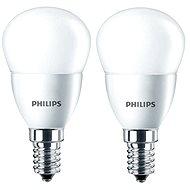 Philips LED kvapka 5,5-40W, E14, 2700K, matná, set 2 ks - LED žiarovka