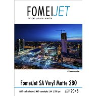 FOMEI Jet SA Vinyl Matte 280 A4 - balenie 20 ks + 5 ks zadarmo - Fotopapier