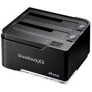 AKASA DuoDock X2 čierna - Externá dokovacia stanica
