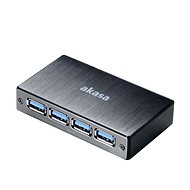 USB Hub AKASA Connect 4SV, USB 3.0, čierny