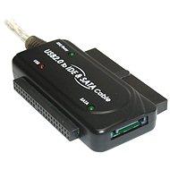 """PremiumCord - konvertor USB 2.0 --> IDE 40/44 pinov a SATA, pre 2.5"""" aj 3.5"""" HDD, AC adaptér - Redukcia"""