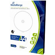 MediaRange CD/DVD/Blu-ray etikety 15mm - 118mm biele - Samolepka