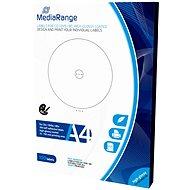 MediaRange CD/DVD/Blu-ray etikety 15 mm - 118 mm biele, vysoký lesk - Samolepka