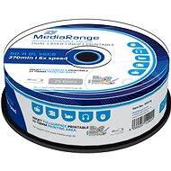 MediaRange BD-R (HTL) 50 GB Dual Layer Inkjet Printable, 25 ks CakeBox - Médiá