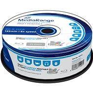 MediaRange BD-R (HTL) 25 GB, Inkjet Printable, 25 ks CakeBox - Médiá