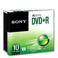 Sony DVD + R 10ks v SLIM krabičke - Médiá