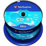 Verbatim CD-R DataLife Protection 52x, 50ks CakeBox - Médiá
