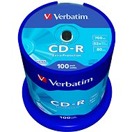 Verbatim CD-R DataLife Protection 52x, 100 ks cakebox - Médiá