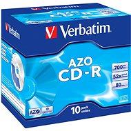Verbatim CD-R DataLifePlus Crystal AZO 52 x, 10 ks v krabičke - Médiá
