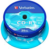 Verbatim CD-R DataLife Protection 52x, 25 ks cakebox - Médiá