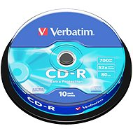 Verbatim CD-R DataLife Protection 52x, 10ks CakeBox - Médiá