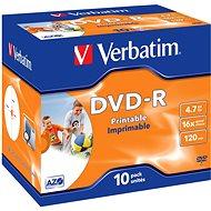 Verbatim DVD-R 16x, Printable 10ks v krabičke - Médiá