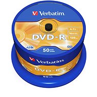 Verbatim DVD-R 16x, 50 ks cakebox - Médiá