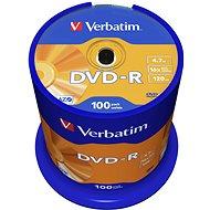 Verbatim DVD-R 16x, 100 ks cakebox - Médiá